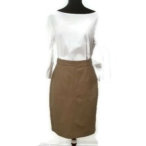 🇨🇦100% Leather Pencil Skirt